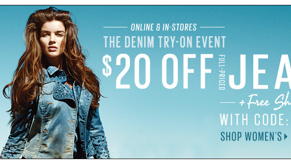 $20 off Full-Priced Women's Jeans