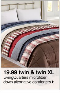 19.99 twin & twin XL LivingQuarters microfiber down alternative comforters
