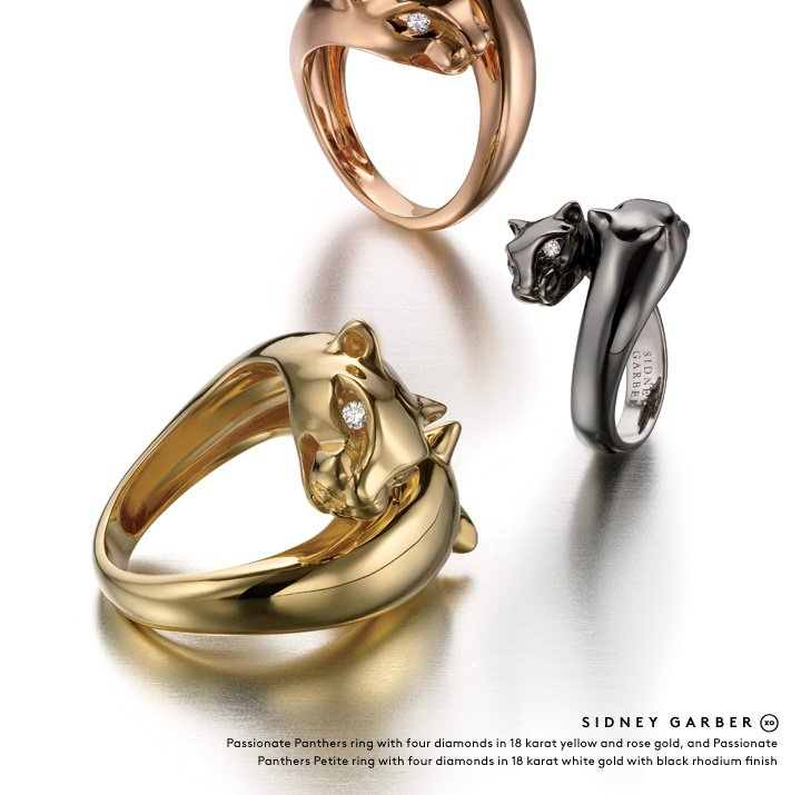 Fine jewelry that packs a punch: Shop Sidney Garber's panther rings and more.