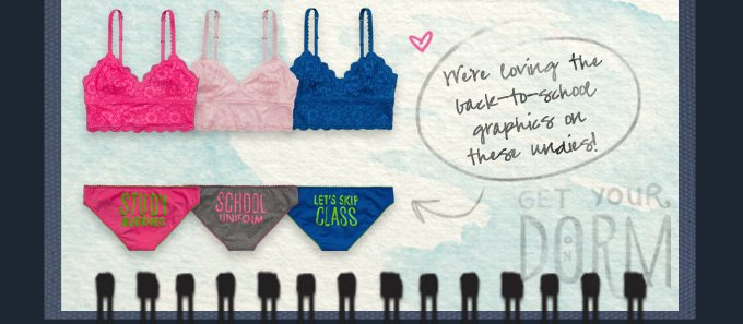WE'RE LOVING THE BACK-TO-SCHOOL GRAPHICS ON THESE UNDIES!