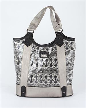 Christian Audigier Sequined Ornament Pattern Embellished Tote