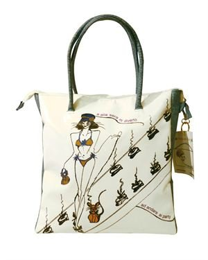 Madamemiao Handmade Printed Shopping Bag Made In Italy