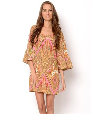 Hayden Kennedy Printed Off-The-Shoulder Dress- Made in USA