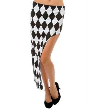 Minx Diamond Print Asymmetrical Skirt Made in USA