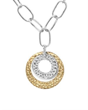 Ladies Necklace Made Of 925 Two Tone Sterling Silver