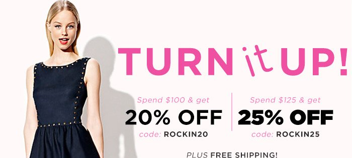 Turn it UP! Shop Now