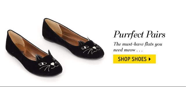 Purrfect Pairs must-have flats you need meow...