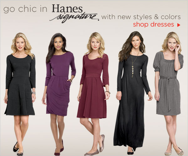 Shop Hanes Signature dresses