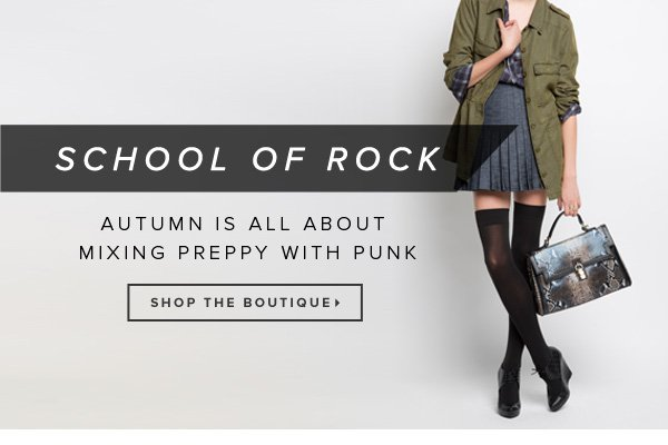 School of Rock Autumn Is All About Mixing Preppy with Punk - - Shop the Boutique