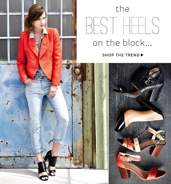 Shop the block heels trend