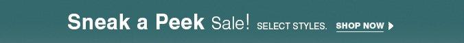 Click here to Sneak a Peak Sale.