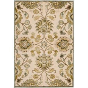 Lauren Ivory Viscose and Chenille 7 ft. 6 in. x 10 ft. 6 in. Area Rug