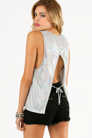 SHIMMER ME IRIDESCENT TANK TOP  33