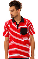 The Bass Polo in Red