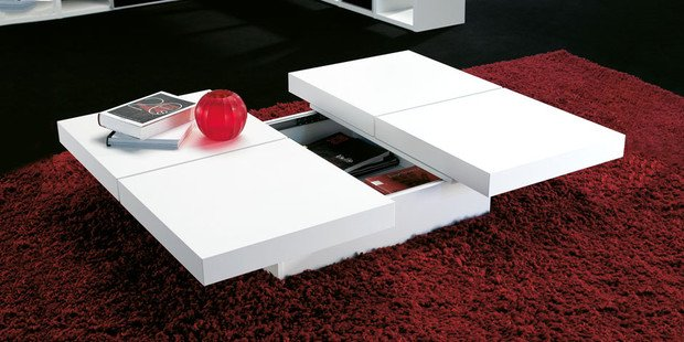 Touch of modern attractive affordable modern furniture - Table basse coulissante ...