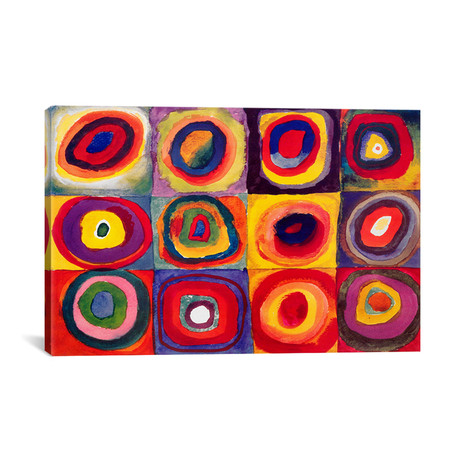 Squares with Concentric Circles by Wassily Kandinsky // Canvas