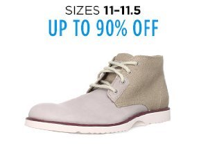 Up to 90% Off Shoes: Sizes 11-11.5