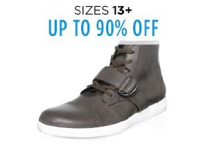 Up to 90% Off Shoes: Sizes 13+