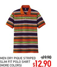 MEN DRY PIQUE STRIPED POLO