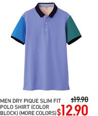 MEN COLOR BLOCK POLO
