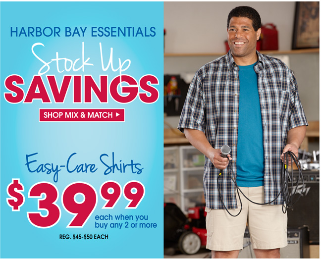 Mix and Match Canyon Ridge & Harbor Bay Short Sleeve Easy Care Shirts