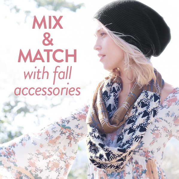 MIX & MATCH with fall accessories