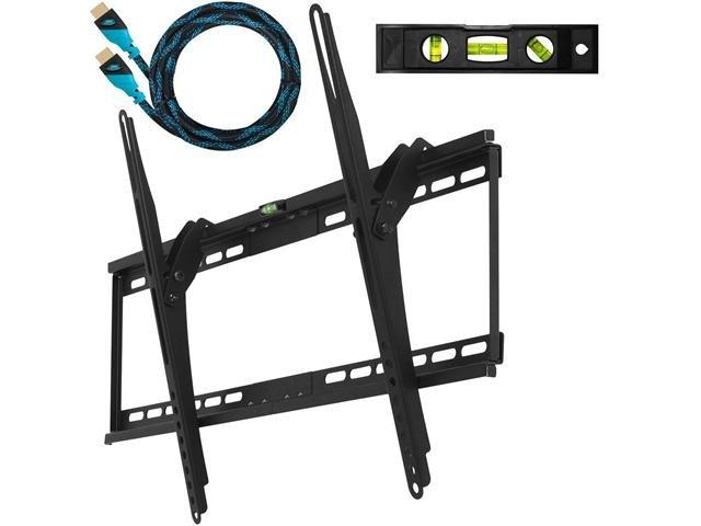 Cheetah Mounts Ultra Flush 32 inch - 65 inch LCD LED Flat Screen TV Bracket Wall Mount w/ Integrated Bubble Level