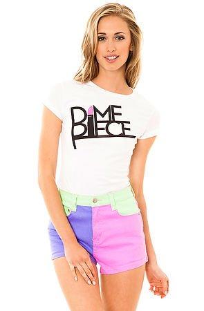 Dimepiece Original Logo Tee in White by Dimepiece