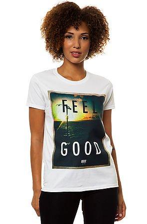 Feel Good Boyfriend Tee in White by Kill Brand