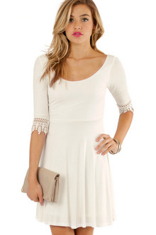 CROCHET AND FLARE DRESS 30