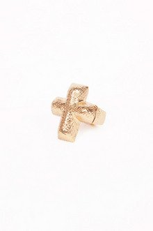 SCRATCHED CROSS RING 7