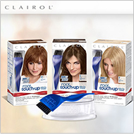 CLAIROL Say  goodbye to mismatched roots and grays in just 10 minutes.