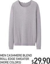 MEN CASHMERE BLEND SWEATER