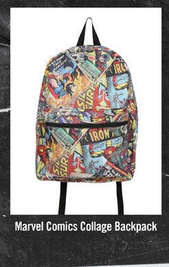 MARVEL COMICS COLLAGE BACKPACK