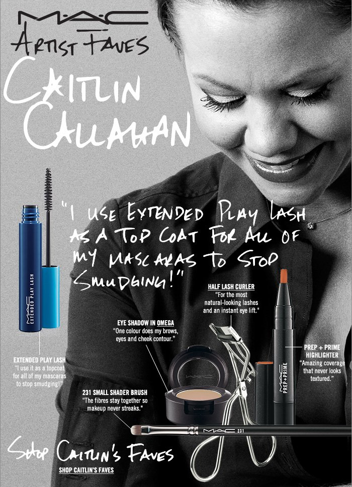 """""""I use Extended Play Lash as a topcoat for all of my mascaras to stop  smudging!"""" Shop Caitlin's Faves"""