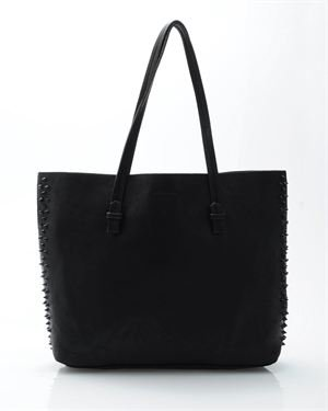 Tosca Spiked Faux Leather Tote Bag