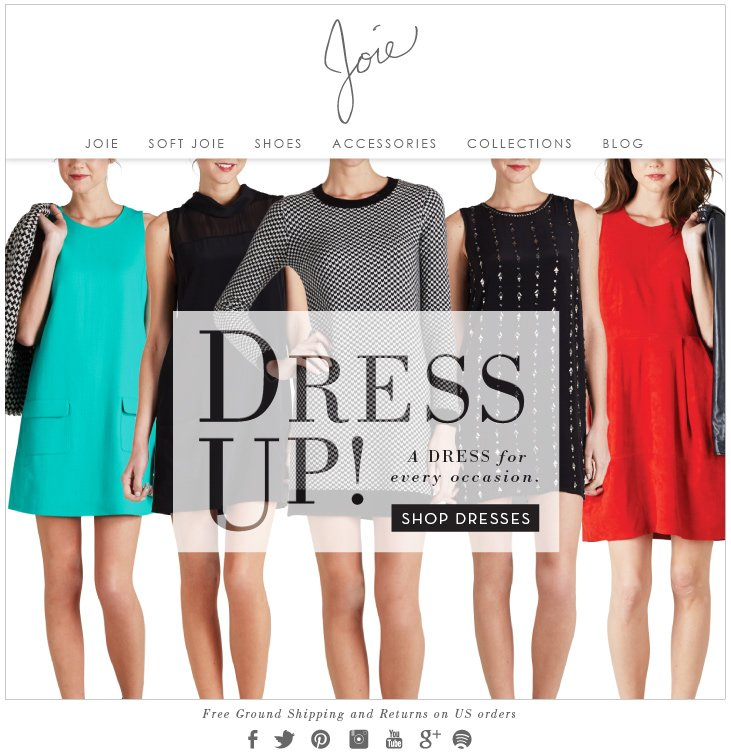 DRESS UP! A DRESS for every occasion.