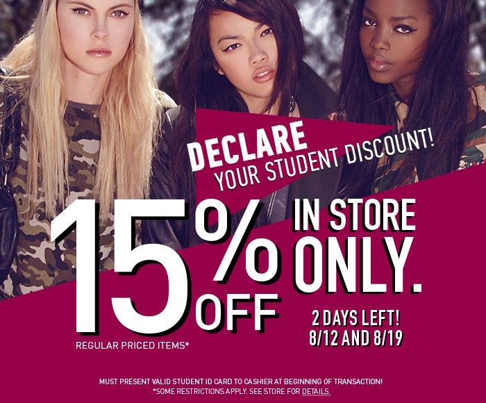 Declare Your Student Discount