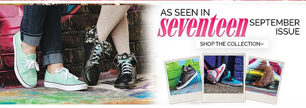Shop the collection seen in the September issue of Seventeen Magazine
