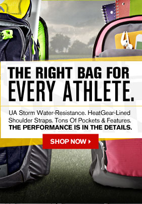 THE RIGHT BAG FOR EVERY ATHLETE. - SHOP NOW