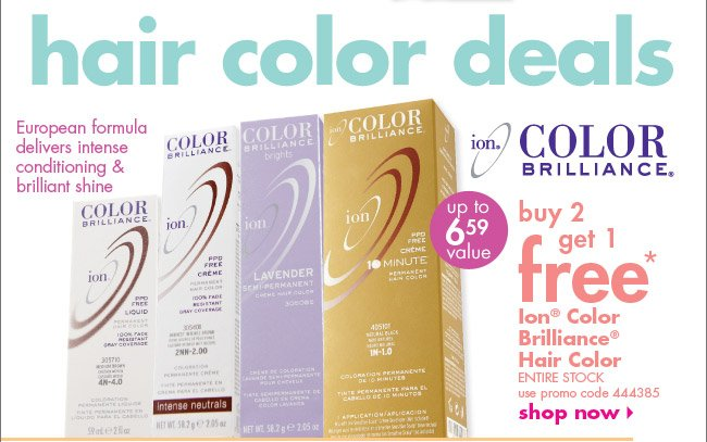 buy 2 get 1 free* Ion Color Brilliance