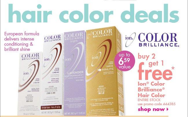 buy 2 get 1 free* Ion Color Brilliance