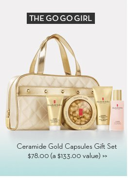 The GO GO Girl. Ceramide Gold Capsules Set $78.00 (a $133.00 value).