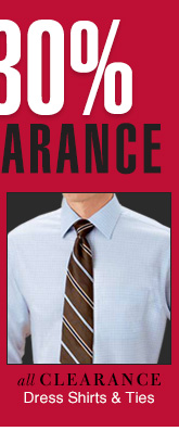 Clearance Dress Shirts & Ties - Reduced 30%