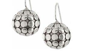 Pebbles & pearls frecnch wire earrings