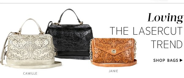 Loving the Lasercut Trend. Shop Bags