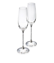 Crystalline Toasting Flutes set of 2