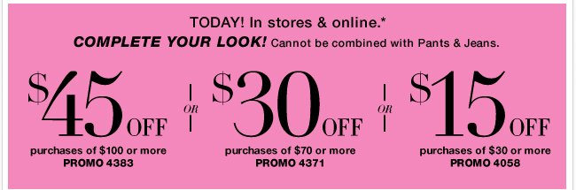 Complete your look with this coupon.