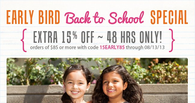 Extra 15% Off 48 HRS Only