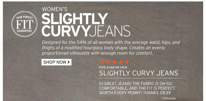 Slightly Curvy Fit Jeans